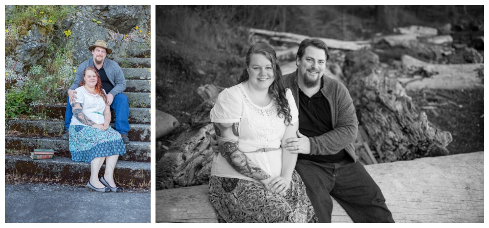 couples engagement session on the beach with nanaimo weddding photographer oceanside portraits
