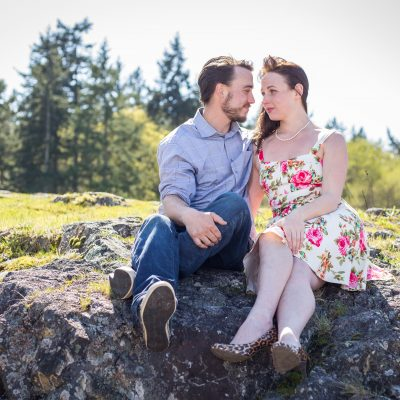 Shaun & Kathleen's Playful Outdoor Engagement Session