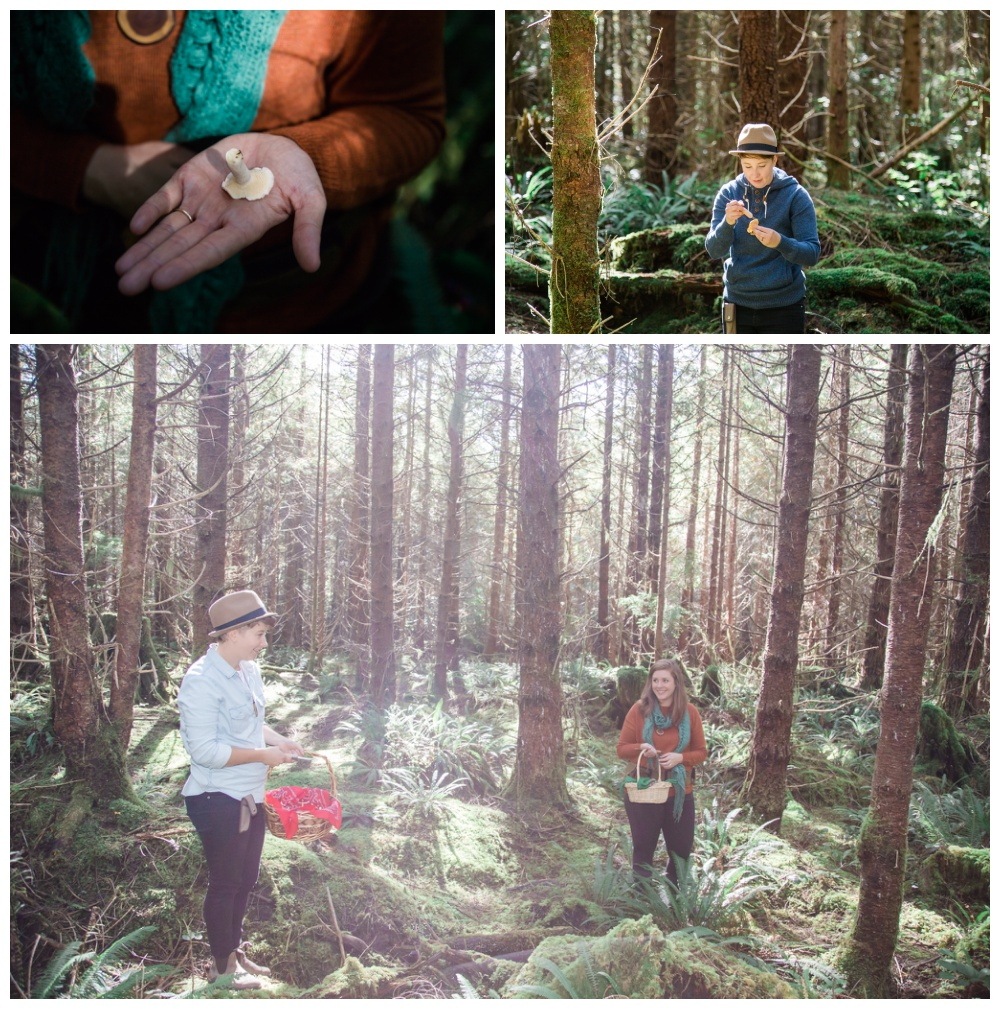 'Forest Gold' mushroom picking portraits