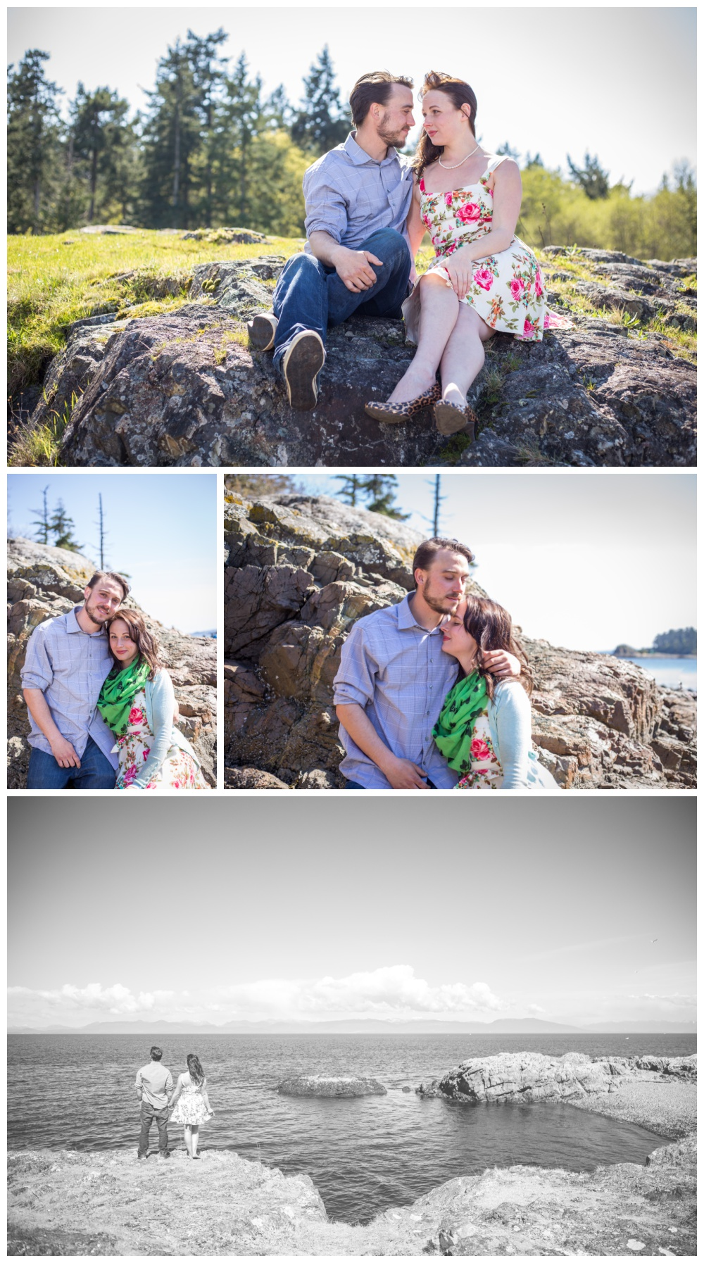 Playful Engagement Session at Neck Point Park