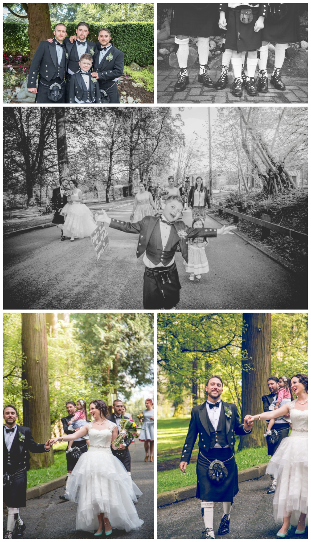Wedding party walking - Vancouver Island Photographer