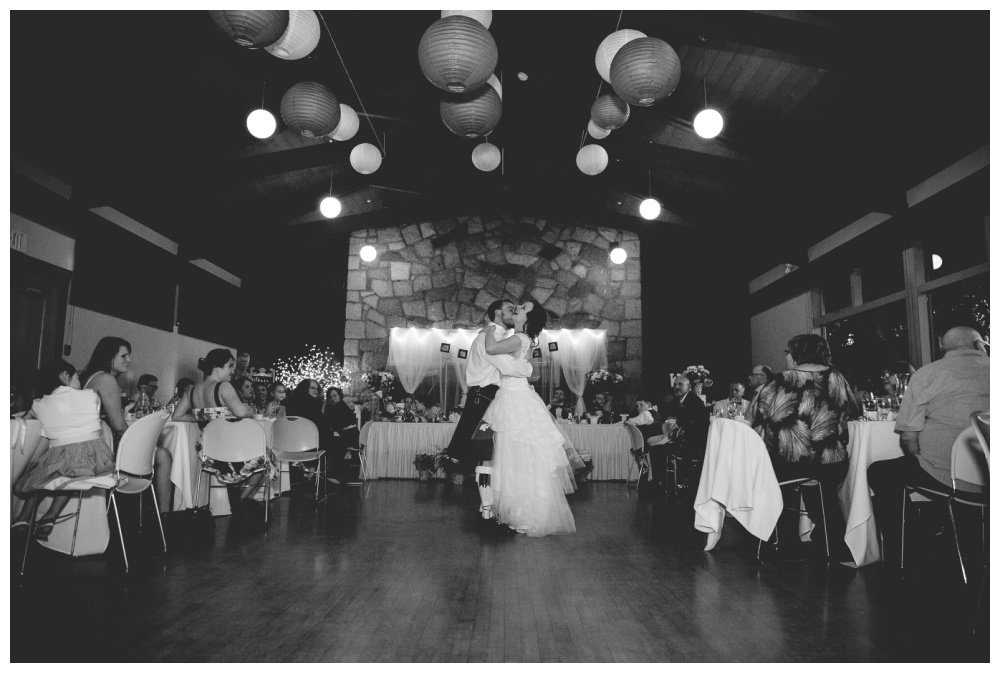 Black and white fist dance photo - vancouver island wedding photographer