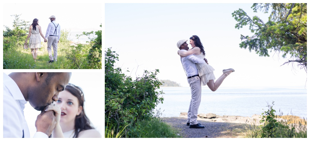 Vancouver Island beach engagement session in Nanaimo