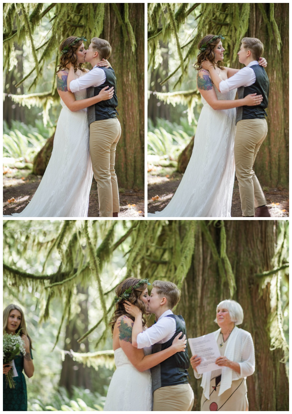 LGBT squamish forest elopement