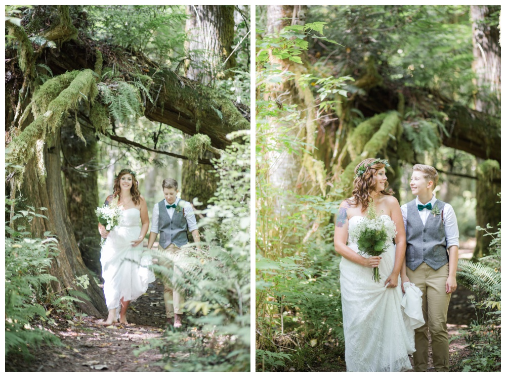 Romantic and intimate LGBT forest wedding