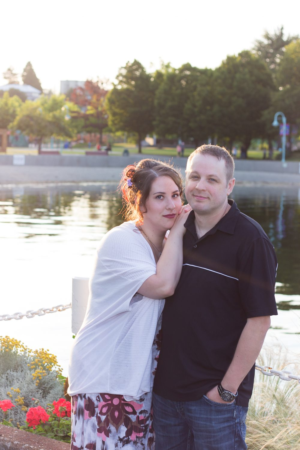 Alicia & Joe's Sunset Seawall Engagement