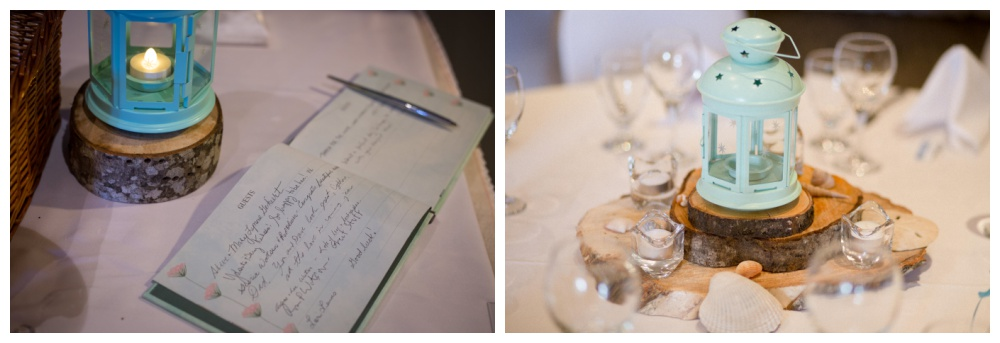 Teal wedding day details, The Beach Club parksville