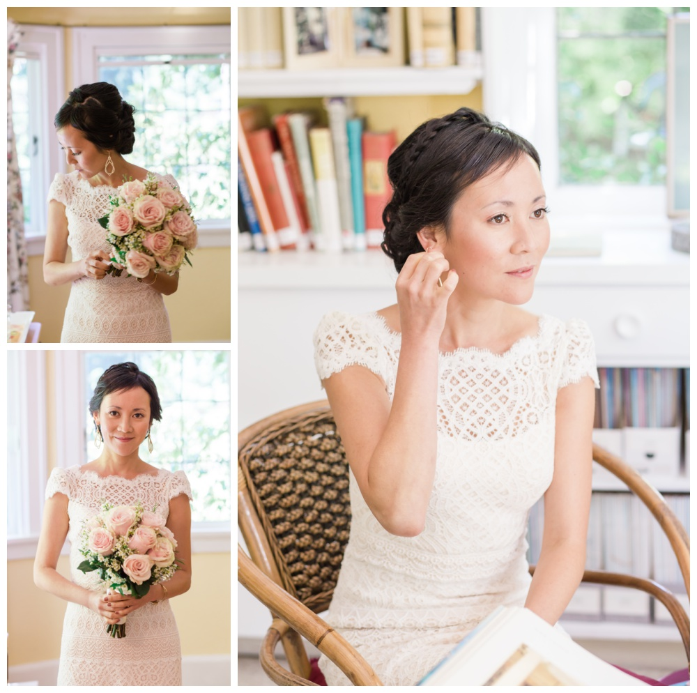 Bridal portraits at Milner Gardens